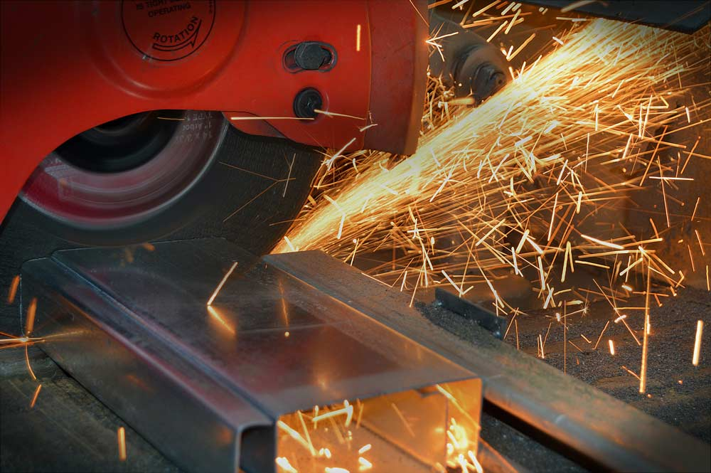 metalsmithing with sparks flying